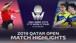 【Video】JEOUNG Youngsik・LEE Sangsu VS LIN Gaoyuan・MA Long, 2019 Platinum Qatar Open quarter finals