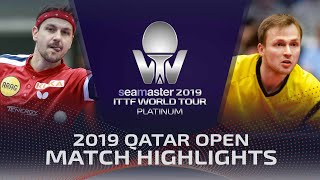 【Video】BOLL Timo VS DUDA Benedikt, 2019 Platinum Qatar Open best 32