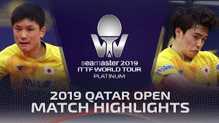 【Video】MASATAKA Morizono VS TOMOKAZU Harimoto, 2019 Platinum Qatar Open best 32