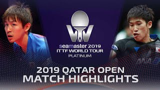 【Video】KOKI Niwa VS MAHARU Yoshimura, 2019 Platinum Qatar Open best 32