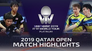 【Video】JEOUNG Youngsik・LEE Sangsu VS TOMOKAZU Harimoto・YUTO Kizukuri, 2019 Platinum Qatar Open best 16