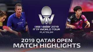 【Video】FILUS Ruwen・HAN Ying VS MASATAKA Morizono・MIMA Ito, 2019 Platinum Qatar Open best 16
