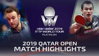 【Video】GAUZY Simon VS FEGERL Stefan, 2019 Platinum Qatar Open best 64