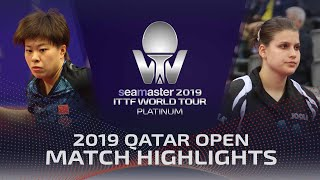 【Video】WANG Yidi VS SOLJA Petrissa, 2019 Platinum Qatar Open best 32