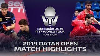 【Video】BOLL Timo・FRANZISKA Patrick VS FLORE Tristan・LEBESSON Emmanuel, 2019 Platinum Qatar Open best 16