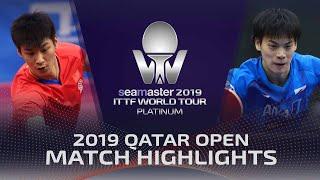 【Video】XUE Fei VS MASAKI Yoshida, 2019 Platinum Qatar Open best 64