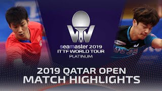 【Video】XUE Fei VS CHO Seungmin, 2019 Platinum Qatar Open best 128