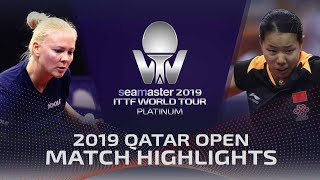 【Video】POTA Georgina VS GU Yuting, 2019 Platinum Qatar Open best 64