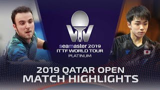 【Video】GAUZY Simon VS YUTO Kizukuri, 2019 Platinum Qatar Open best 128