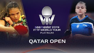 【Video】DIAZ Adriana VS SURJAN Sabina, 2019 Platinum Qatar Open best 128