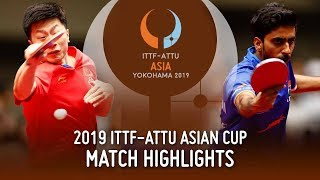 【Video】GNANASEKARAN Sathiyan VS MA Long, 2019 ITTF-ATTU Asian Cup quarter finals