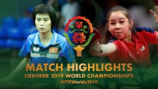 【Video】NGUYEN Khoa Dieu Khanh VS HURSEY Anna, 2019 World Table Tennis Championships