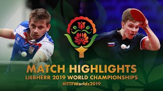 【Video】SIDORENKO Vladimir VS PETO Zsolt, 2019 World Table Tennis Championships