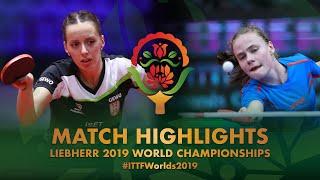【Video】TODOROVIC Andrea VS RILISKYTE Kornelija, 2019 World Table Tennis Championships