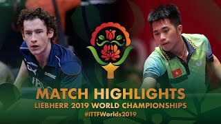 【Video】GLOD Eric・MLADENOVIC Luka VS DOAN Ba Tuan Anh・NGUYEN Duc Tuan, 2019 World Table Tennis Championships best 64