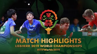 【Video】IVONIN Denis・SIDORENKO Vladimir VS TOMOKAZU Harimoto・YUTO Kizukuri, 2019 World Table Tennis Championships best 64