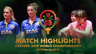 【Video】CHEN Meng・Zhu Yuling VS BUSATLIC Belma・HADZIAHMETOVIC Emina, 2019 World Table Tennis Championships best 64