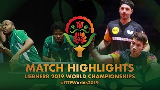 【Video】ARUNA Quadri・OMOTAYO Olajide VS BOLL Timo・FRANZISKA Patrick, 2019 World Table Tennis Championships best 64