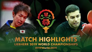 【Video】KOKI Niwa VS AGUIRRE Marcelo, 2019 World Table Tennis Championships best 128