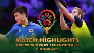 【Video】PERSSON Jon VS TOMOKAZU Harimoto, 2019 World Table Tennis Championships best 64