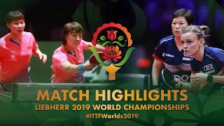 【Video】CHEN Meng・Zhu Yuling VS DE NUTTE Sarah・NI Xia Lian, 2019 World Table Tennis Championships best 32