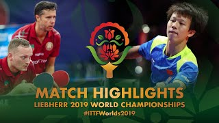 【Video】LIANG Jingkun・LIN Gaoyuan VS PLATONOV Pavel・SAMSONOV Vladimir, 2019 World Table Tennis Championships best 32