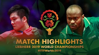 【Video】FAN Zhendong VS ARUNA Quadri, 2019 World Table Tennis Championships best 32