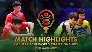 【Video】JEOUNG Youngsik・LEE Sangsu VS MA Long・WANG Chuqin, 2019 World Table Tennis Championships quarter finals