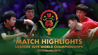 【Video】MA Long・WANG Chuqin VS LIANG Jingkun・LIN Gaoyuan, 2019 World Table Tennis Championships semifinal