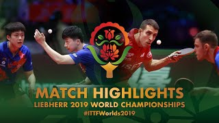 【Video】IONESCU Ovidiu・ROBLES Alvaro VS MA Long・WANG Chuqin, 2019 World Table Tennis Championships finals