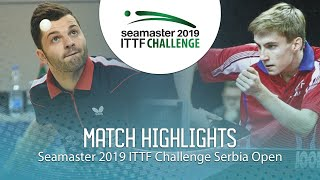 【Video】ROLLAND Jules VS LUPULESKU Lorencio, 2019 ITTF Challenge Serbia Open