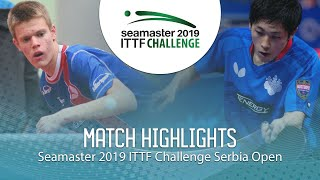 【Video】YUMA Tsuboi VS TEPIC Pero, 2019 ITTF Challenge Serbia Open