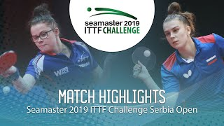 【Video】GUISNEL Oceane VS SHADRINA Daria, 2019 ITTF Challenge Serbia Open