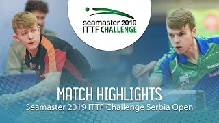 【Video】JARVIS Tom VS CVETKO Tilen, 2019 ITTF Challenge Serbia Open