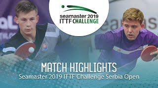 【Video】RASMUSSEN Tobias VS ORAC Daniel, 2019 ITTF Challenge Serbia Open