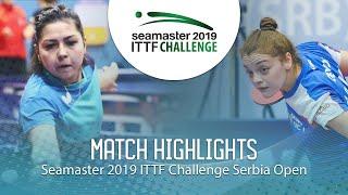 【Video】KHUSSEINOVA Gulchekhra VS JOKIC Tijana, 2019 ITTF Challenge Serbia Open