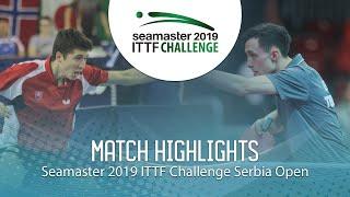 【Video】KLEIN Dennis VS ZELINKA Jakub, 2019 ITTF Challenge Serbia Open