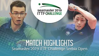 【Video】YUMA Tsuboi VS DE NODREST Leo, 2019 ITTF Challenge Serbia Open