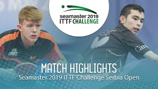 【Video】JARVIS Tom VS HAZIN Jeremy, 2019 ITTF Challenge Serbia Open best 16