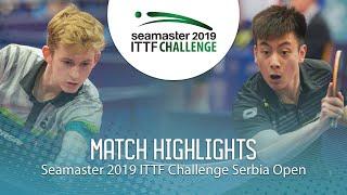 【Video】MEISSNER Cedric VS CHEN Shuainan, 2019 ITTF Challenge Serbia Open best 32