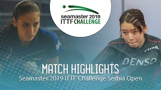 【Video】AIRI Abe VS YOVKOVA Maria, 2019 ITTF Challenge Serbia Open best 64