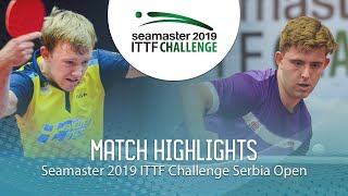 【Video】RASMUSSEN Tobias VS RANEFUR Elias, 2019 ITTF Challenge Serbia Open best 64