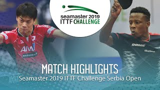 【Video】MASAKI Yoshida VS SALIFOU Abdel-Kader, 2019 ITTF Challenge Serbia Open best 64