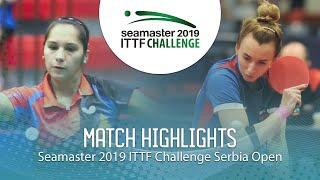 【Video】MALANINA Maria VS MORALES Judith, 2019 ITTF Challenge Serbia Open best 64