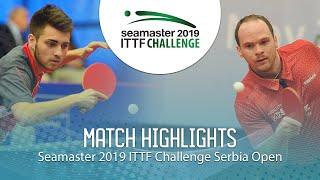 【Video】LAMADRID Juan VS DRINKHALL Paul, 2019 ITTF Challenge Serbia Open best 32