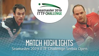 【Video】FEGERL Stefan VS DRINKHALL Paul, 2019 ITTF Challenge Serbia Open best 16