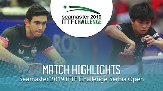【Video】AFANADOR Brian VS YUTA Tanaka, 2019 ITTF Challenge Serbia Open quarter finals