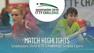 【Video】HINA Hayata VS PERGEL Szandra, 2019 ITTF Challenge Serbia Open quarter finals