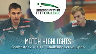 【Video】LANDRIEU Andrea VS KOJIC Frane, 2019 ITTF Challenge Serbia Open quarter finals