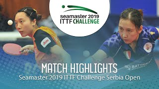【Video】LI Xiang VS SOO Wai Yam Minnie, 2019 ITTF Challenge Serbia Open quarter finals